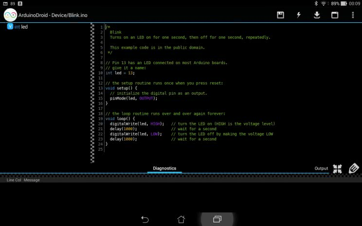 ArduinoDroid screenshot